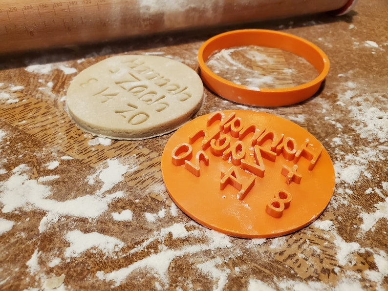 Personalized Wedding Cookie Cutter & Stamp  Custom Wedding image 0