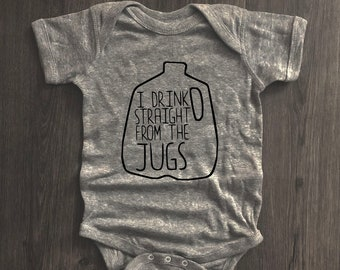 I Drink Straight From The JugsBreastfed BabyFunny OnesieCute Baby ClothesBreastfeeding OnesieBaby Shower GiftGift for Baby