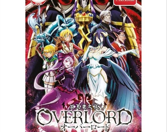 Overlord Anime World Map.Overlord Etsy