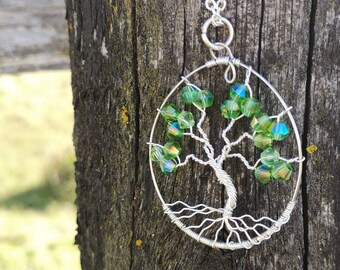 Tree Of Life Pendant -Wire Wrapped Pendant - Wire Wrapped Jewelry- Tree Pendant -
