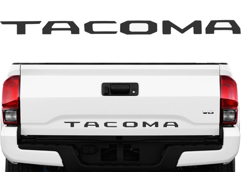 Matte Black TACOMA Tailgate Vinyl Decal Letter Inlays For 2016-2019 Toyota  Tacoma SR5 TRD PRO Off Road Sport Access Cab Double Cab Accessory