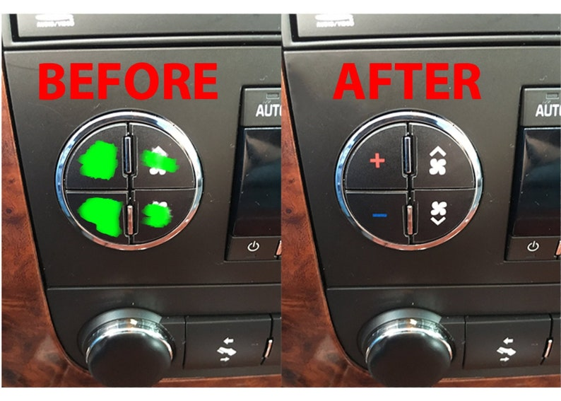 AC Button Repair Kit Dash Replacement Decal Stickers Fits GM Vehicles 2007-2013