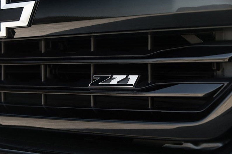 Summit White Vinyl Overlays For Z71 Grill Emblem For 2014-2018 Chevy Silverado
