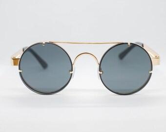 14e9b244fb Black Tint Gold Frame John Lennon Type Hippie Retro Sunglasses Men Women