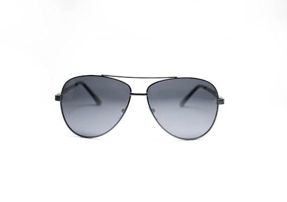 Black Tint Retro Aviator Pilot Sunglasses for Men Women  1a72b3de917