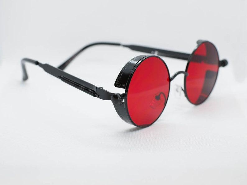 3f94c942af Red Tint Black Frame John Lennon Hippie Retro Festival