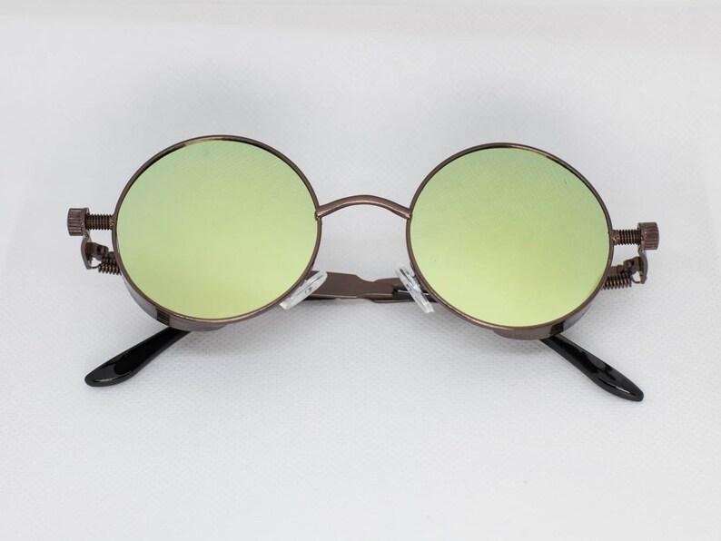 e2953fe50182 Green Tint Black Frame John Lennon Hippie Retro Festival | Etsy
