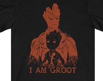 44197799b GROOT shirt, I am Groot Shirt, Guardians of The Galaxy T-Shirt, Baby Groot  , Unisex Jersey Short Sleeve Tee