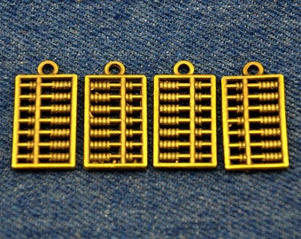 10PCS 24x10mm Bronze Abacus Charms,2 Sided-p2071-A