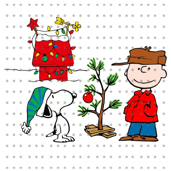 Snoopy And Woodstock Christmas Images.Merry Christmas Snoopy Woodstock Charlie Brown Svg File Dxf Png Eps Cut File For Silhouette