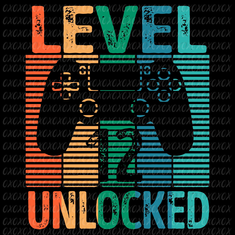 Gamer Level 12 Unlocked Teen 12th Birthday Video Game Svg Etsy