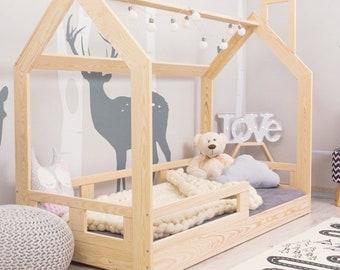 Kids House Bed Hausbett Holzbett Holz Haus Bett Etsy
