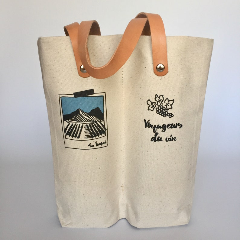 Double wine bag gift for wine lover image 0