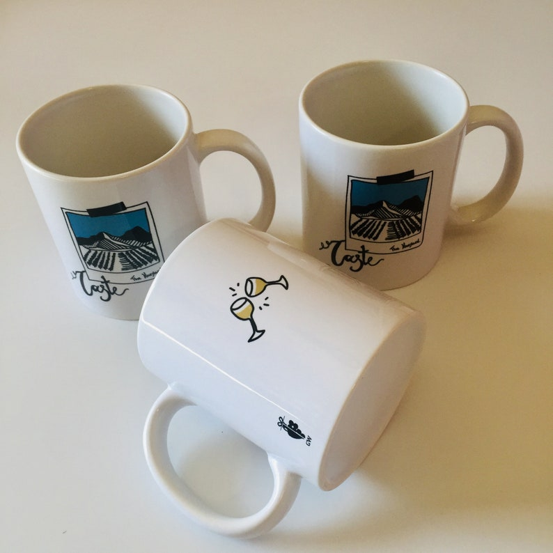 Wine themed mug gift for wine lover image 0