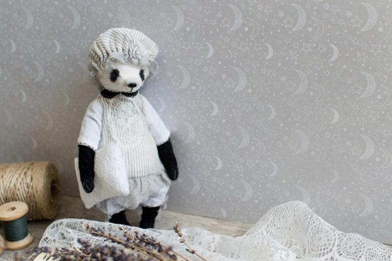 handmade toy artist teddy Panda Lilit toy 7 inches teddy bear