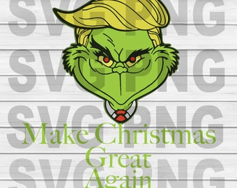 Make Christmas Great Again  SVG, DXF, PNG, Eps ,Cut Files Digital