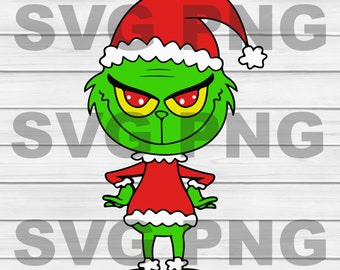 Grinch Face Xmas  SVG, DXF, PNG, Eps ,Cut Files Digital