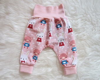 Baby Pants Pants - Pig Bunnies - Pink - Size 50/56