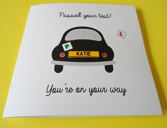 Personalised Handmade /'You/'ve Passed/' Driving Test Card