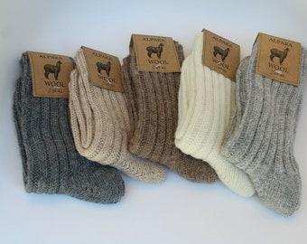 Alpaca Wool Socks extra thick warm outdoor/Indoor very soft!!! Men/Women