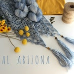 Kit ARIZONA Shawl-handdyed 100% Merino yarn (Fingering)