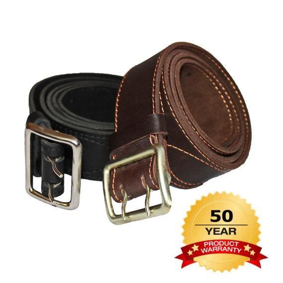 "Big /& Tall Mens Heavy Duty Black Leather Belt 1 1//4/"" Wide Sizes 46-72"