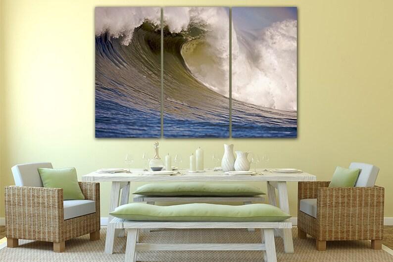 Wall art canvas Ocean waves canvas Ocean waves print Water decor Waves art print Ocean waves photo Landscape art Nature picture Sea canvas