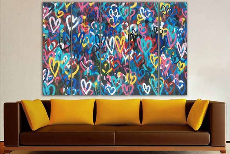 de0cbf39910 Heart street art Print on canvas Art graffiti Street art