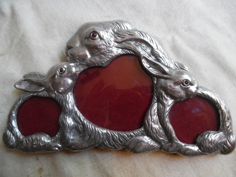 Vintage Rabbit Frame For 3 Photo Arthur Court
