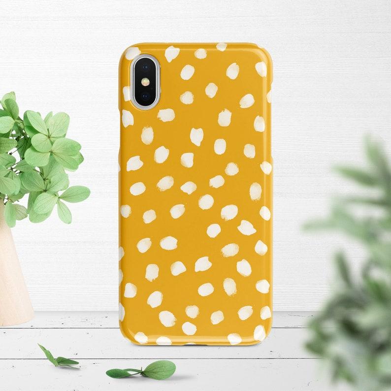 on sale 56f6c 04c5c Mustard Yellow Polka Dots iPhone Case iPhone XS Case iPhone XR Case iPhone  XS Max Case iPhone X Case Case iPhone 8 Case iPhone 7 Case