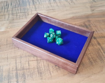 Walnut Dice Tray for D&D, Pathfinder, other RPGs and Tabletop Gaming. Solid Wood and Handmade.