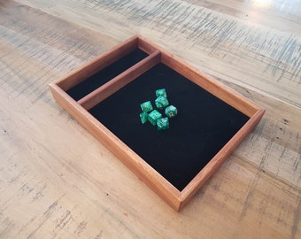 Sapele Dice Tray for D&D, Pathfinder, other RPGs and Tabletop Gaming. Solid Wood and Handmade.
