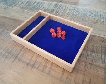 Red Oak Dice Tray for D&D, Pathfinder, other RPGs and Tabletop Gaming. Solid Wood and Handmade.