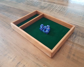 Cherry Dice Tray for D&D, Pathfinder, other RPGs and Tabletop Gaming. Solid Wood and Handmade.