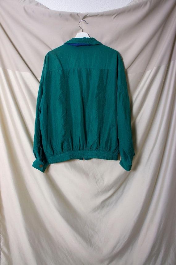 Vintage Yorn For Men 100% Silk Bomber Jacket 52/5… - image 5