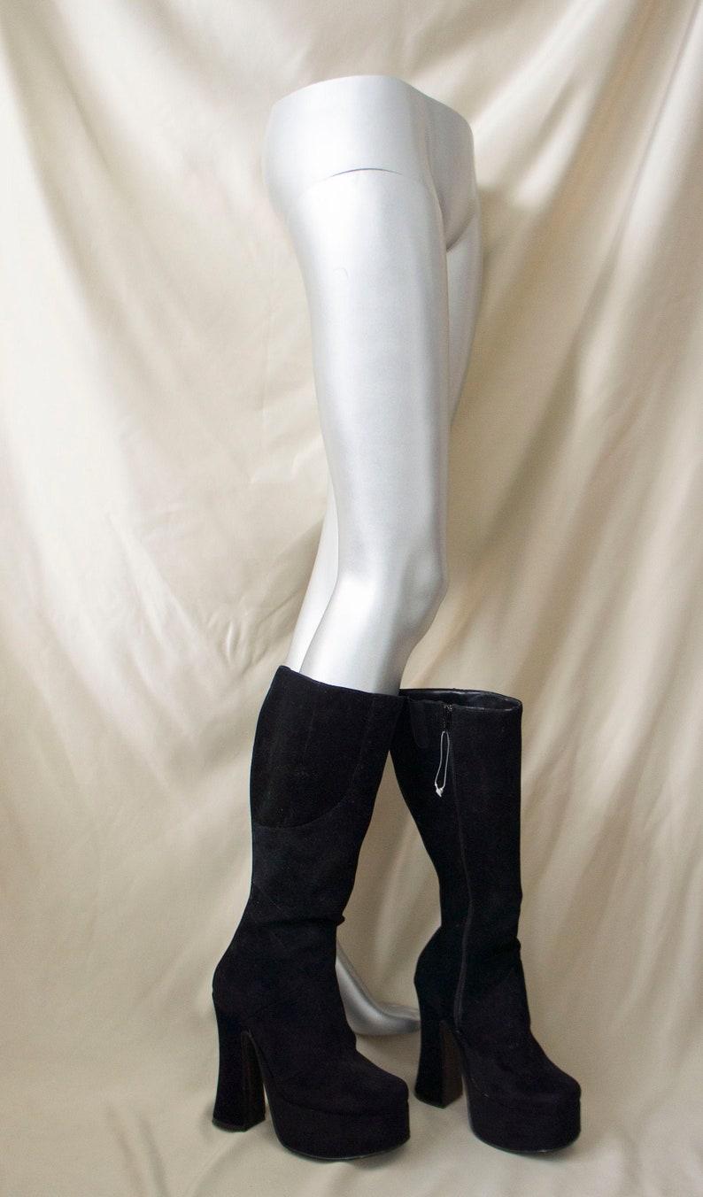 Vintage 90/'s Platform Boots Graceland Go Crazy EU 38  US 7  UK 5 Black Shoes Love Parade Rave Techno Goth