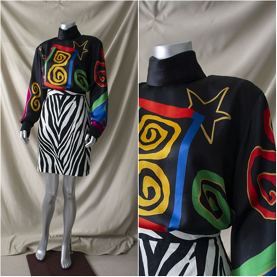 Vintage 80s 90s Designer Blouse Louis Feraud Size