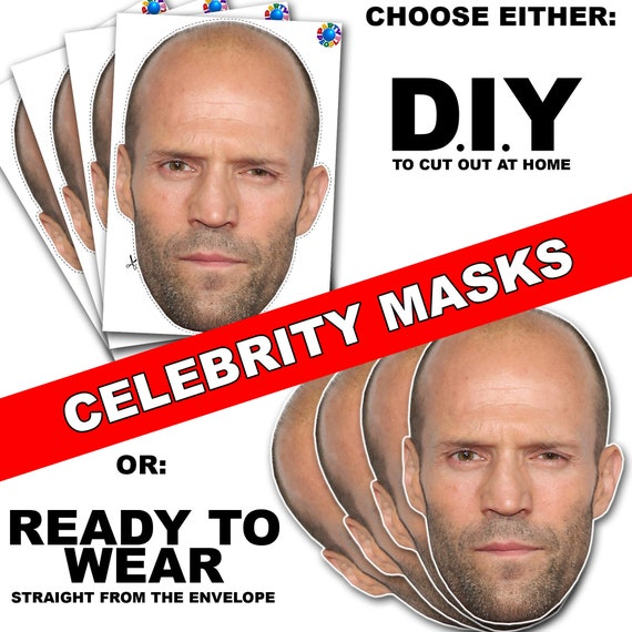 60 PERSONALISED PHOTO FACE MASK KITS FOR STAG /& HEN NIGHT BIRTHDAY PARTY