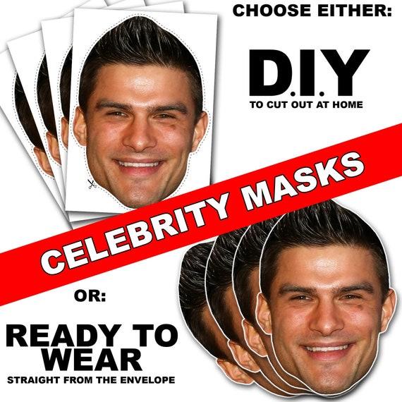 Aljaz Skorjanec Card Face and Fancy Dress Mask Celebrity Mask Smile