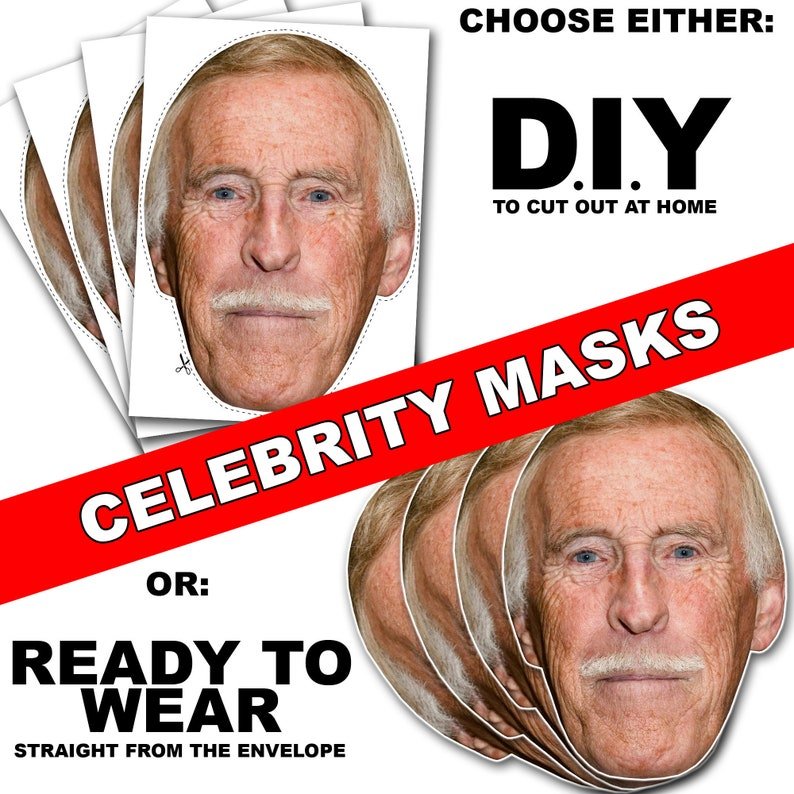 Fred Sirieix Celebrity Mask Card Face and Fancy Dress Mask