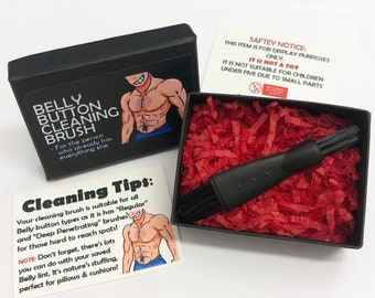 Belly Button Cleaning Brush - Funny Novelty Gift Ideas - Ideal For Birthday Presents, Wedding Favours, Party Bags