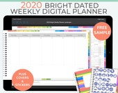 Bright digital planner 2020 weekly planner. Landscape business planner. Notability Planner, GoodNotes template. iPad Pro Planner