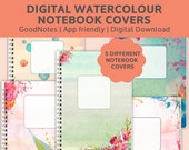 Watercolor digital planner covers | GoodNotes & iPad Notebook Covers | DIGITAL DOWNLOAD