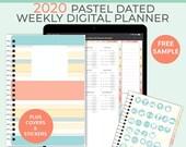Pastel digital 2020 weekly planner. Portrait business planner 2020 digital planner. Notability Planner, GoodNotes template. iPad Pro Planner