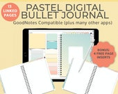 Pastel Digital Notebook Bullet Journal | Goodnotes template | Landscape | iPad Tablet Android Planner | Notability Noteshelf journal