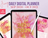 Juicy Digital planner GoodNotes 5. 2020 planner.  Digital Life Planner. Ideal to use as a Daily Planner, digital notebook or Ipad planner
