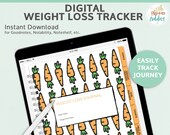 Weight Loss Tracker - includes: weight loss, habit, workout and water bottle trackers and a meal planner. Plus weight loss charts.