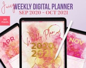 Juicy Digital planner GoodNotes 5. 2020 planner.  Digital Life Planner. Ideal to use as a Weekly Planner, digital notebook or Ipad planner