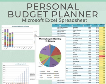 Monthly Budget Planner Book In An Excel Spreadsheet Expense
