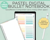 Pastel Blank Digital Notebook Bullet Journal | Goodnotes template | Portrait | iPad Tablet Android Planner | Notability Noteshelf journal